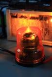 精密橙色警报器 免版税库存照片