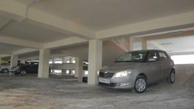 精密汽车压低舷梯从二楼到首先 影视素材