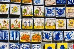 精密纪念品磁铁在巴伦西亚,西班牙。 图库摄影