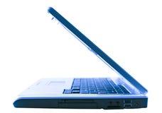 精密蓝色的膝上型计算机 免版税库存照片