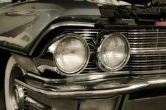 精密黑肌肉汽车 免版税库存图片