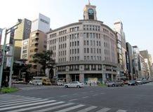 精工大厦在银座,东京,日本。 免版税库存照片