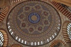 精巧彩色陶器清真寺 库存照片
