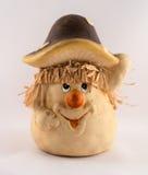 精巧彩色陶器蘑菇 库存图片