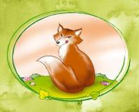 精明数字式狐狸例证红色 免版税图库摄影