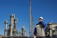 精炼厂工程师和化工业 库存图片