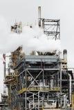 精炼厂抽烟 免版税库存照片
