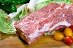 精瘦的猪肉 免版税库存图片