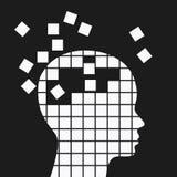 精神健康和记忆损失,神经学问题 免版税库存图片
