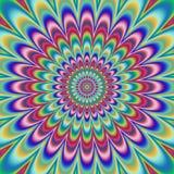 精神分析的花卉样式引起的纹理 免版税图库摄影