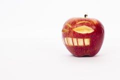 精神分析的面孔苹果 免版税库存照片