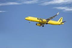 精神喷气式客机,班机 免版税库存照片
