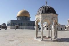 精神圆顶在圣殿山在耶路撒冷 免版税库存照片