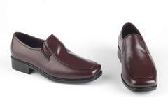 精神布朗鞋子 库存照片