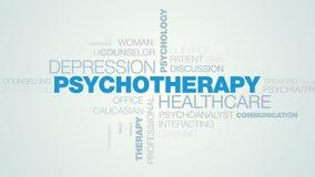 精神疗法医疗保健消沉心理学心理健康问题重音人疗法忠告给词云彩赋予生命 皇族释放例证