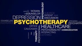 精神疗法医疗保健消沉心理学心理健康问题重音人疗法忠告给词云彩赋予生命 库存例证