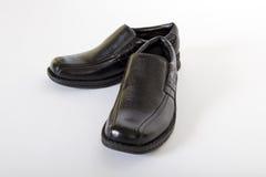 精神黑皮鞋 免版税库存图片