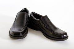 精神黑皮鞋 图库摄影