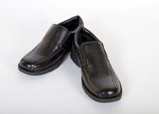 精神黑皮鞋 免版税图库摄影