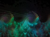 精美分数维抽象样式卷毛典雅的泡的螺旋引起艺术性 免版税库存照片