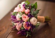精美新娘花束 库存图片