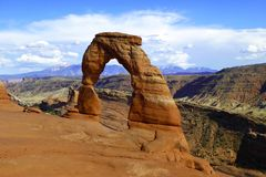 精美曲拱大概是最著名的曲拱在世界上 Utha,美国 免版税库存图片