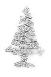 从精采信件的圣诞树 免版税库存图片