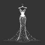 精采婚礼礼服 库存图片