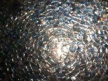 精采玻璃,珍贵的金刚石石头,假钻石纹理摆正纯净轻透明银色,装饰,装饰 库存图片