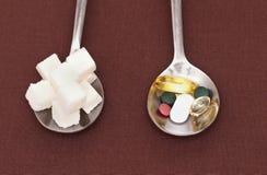 糖匙子 免版税库存图片