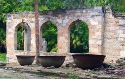 糖厂废墟 免版税库存照片
