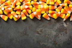 糖味玉米万圣夜背景 库存图片
