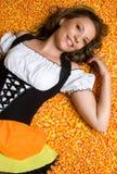 糖味玉米万圣节 免版税库存图片
