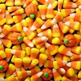 糖味玉米和南瓜万圣夜背景 免版税库存照片