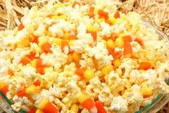 糖味玉米混合玉米花 图库摄影