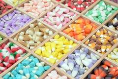 糖味玉米箱子 免版税库存照片