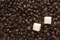 糖和咖啡豆 库存图片