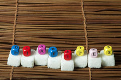 糖团和字糖尿病 图库摄影