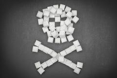 糖头骨由糖立方体制成 库存图片