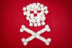 糖头骨由糖立方体制成 免版税库存图片