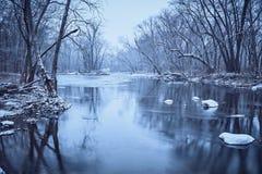 糖小河在冬天 图库摄影