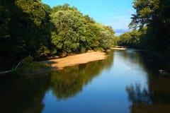 糖小河风景印第安纳 免版税库存照片