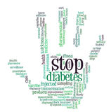 糖尿病信息文本图象 免版税库存照片