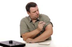 糖尿病射入在办公室 免版税库存图片