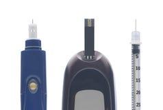 糖尿病成套工具 免版税图库摄影