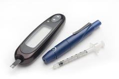糖尿病成套工具 库存照片