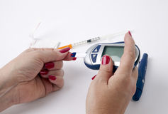 糖尿病测试 库存图片