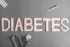 糖尿病背景 免版税库存照片