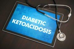 糖尿病酮酸中毒(内分泌疾病)诊断医疗浓缩 免版税库存照片