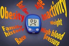 糖尿病风险因素 库存照片